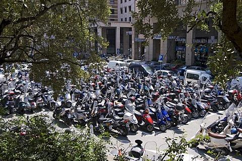 Genoa Genova Liguria Italy parking place