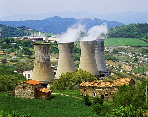 Enep Industrials Tuscany Italy Italia near Lardarello