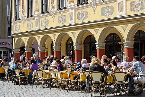 Memmingen Bavarian Swabia Bavaria Germany marktplatz market square Steuerhaus tax house