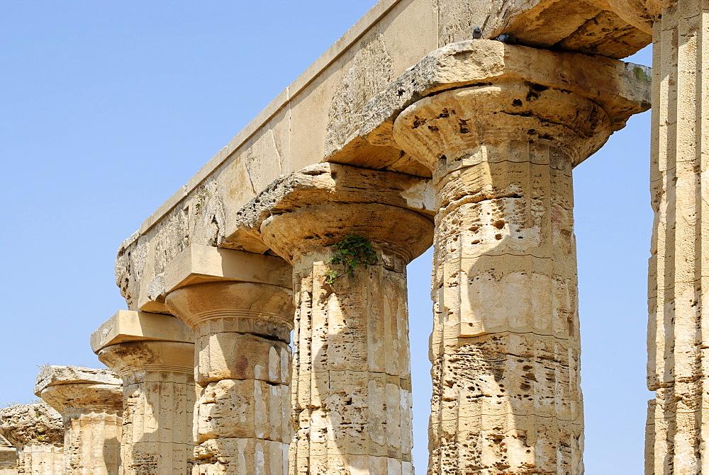 Temple E so-called temple of Hera Selinunte Sicily Italy