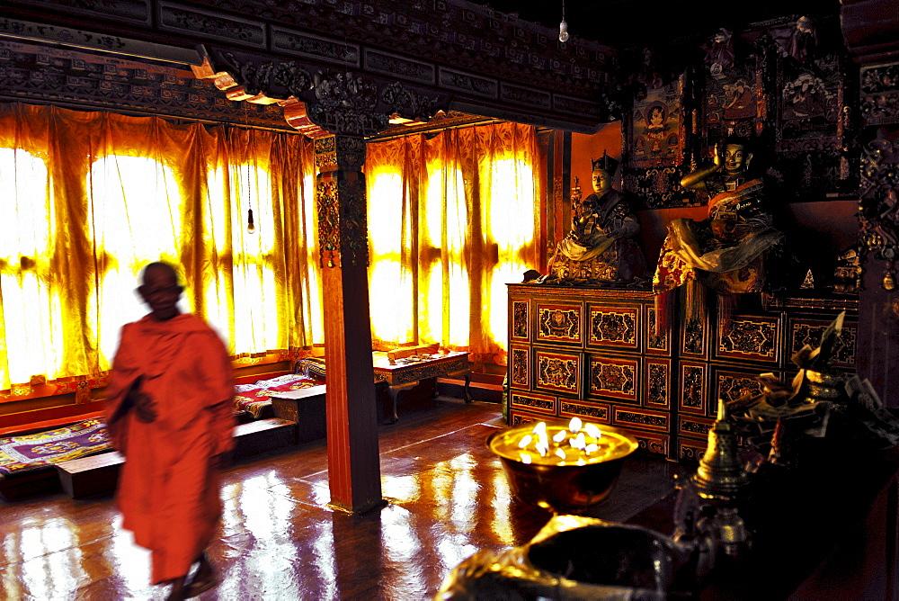 Monks, Tshurpu Convent near Lhasa, Tibet