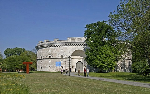 Triva tower, Klenzepark, Bavarian army museum, Ingolstadt, Bavaria, Germany