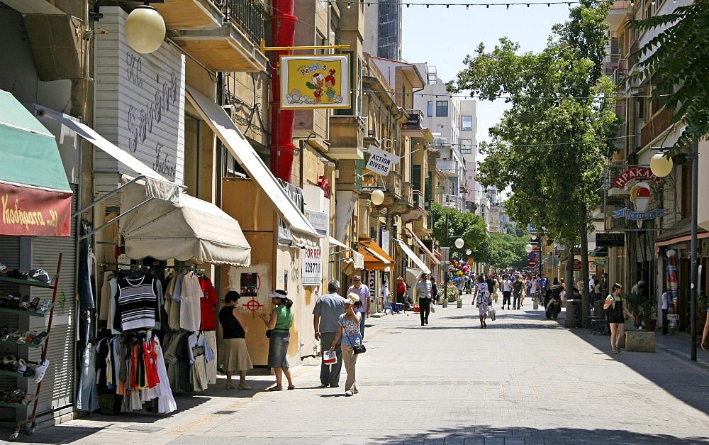Pedestrian precinct, old town, Nicosia, Cyprus