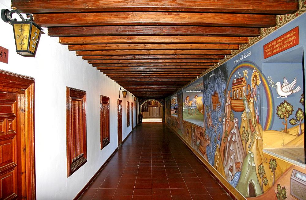 Wall mural at Kykkos Monastery, Cyprus, Europe