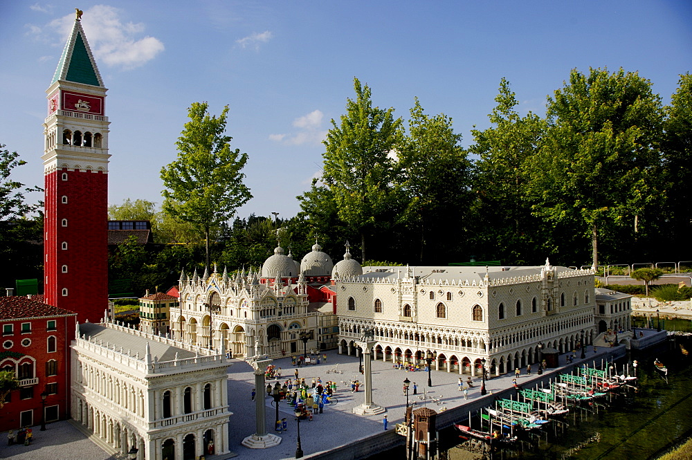Venice, Marcus place made of Lego, theme park Legoland, Guenzburg, Germany