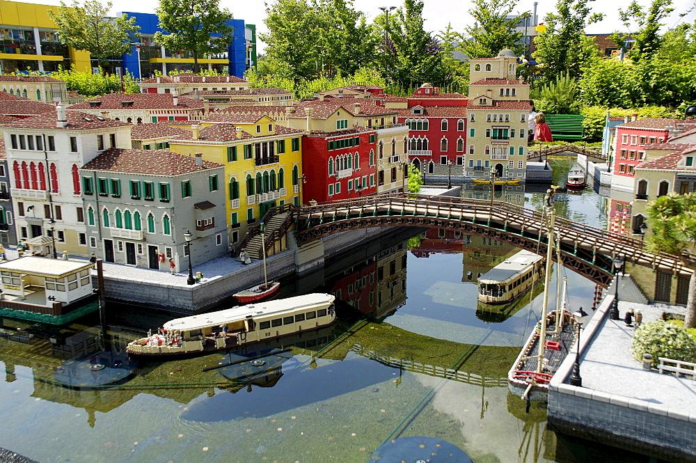 Venice made of Lego, theme park Legoland, Guenzburg, Germany