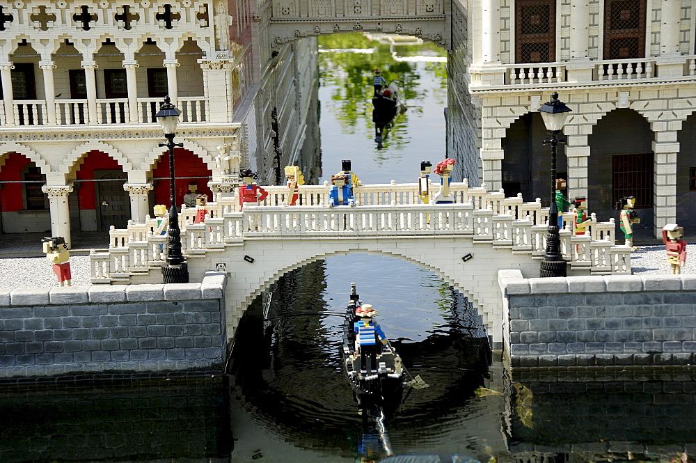 Seufzerbruecke in Venice made of Lego, theme park Legoland, Guenzburg, Germany