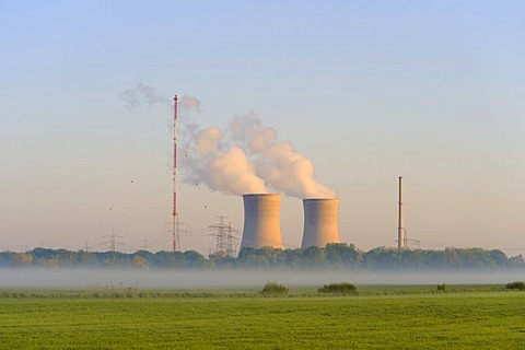 Grafenrheinfeld Nuclear Power Station, Grafenrheinfeld, Lower Franconia, Bavaria, Germany, Europe