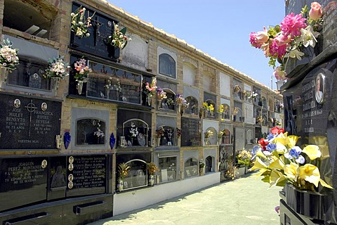 Grave sites on the cemetery of Altea, Costa Blanca, Spain, religion