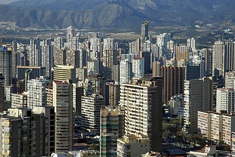 City scape of Benidorm, Costa Blanca, Spain