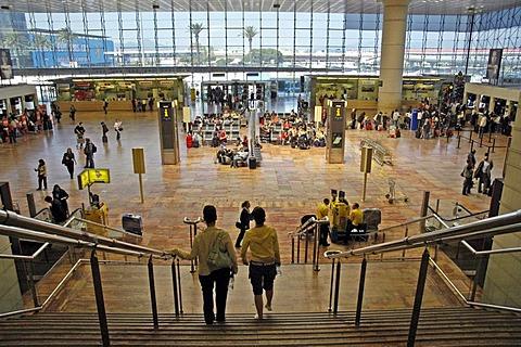 Entrance area airport Barcelona, Catalonia, Spain