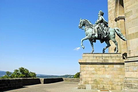 Emperor William memorial on the Hohensyburg, Dortmund, Ruhr Basin, NRW, Northrhine - Westphalia, Germany, national memorial, cultural history