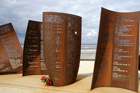 Memorial for the ones lost at sea, Katwijk aan Zee, South Holland, Holland, The Netherlands