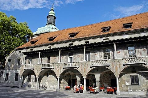 Krizanke, originally monastery of the Order of Teutonic Knights, now culture centre, Ljubljana, Slovenia