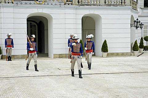 Grassalkovich Palace, residence of the Slovak President, change of guards, Bratislava, Slovakia
