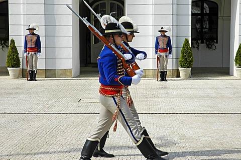 Change of guards, Grassalkovich Palace, residence of the Slovak President, Bratislava, Slovakia
