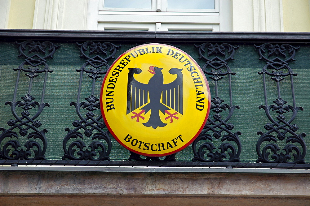 Coat of arms, German embassy, Bratislava, Slovakia