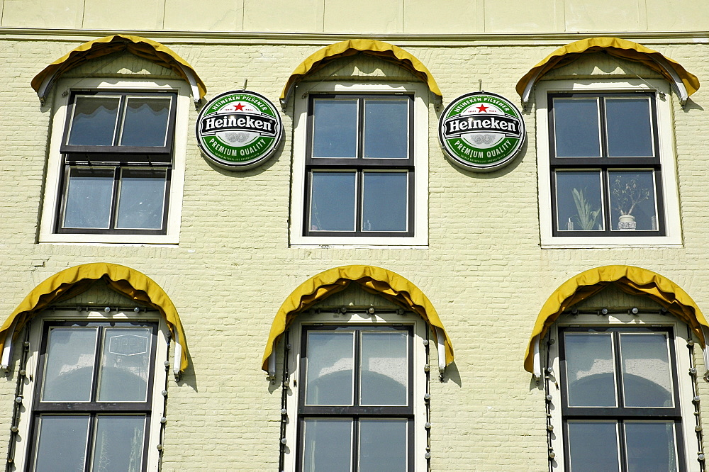 Heineken Beer ads, Vlissingen, Zeeland, Holland, the Netherlands