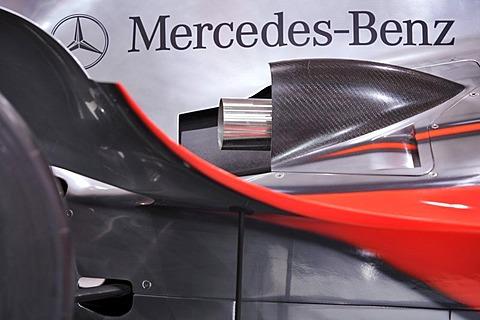Formula 1 racer as an advertising