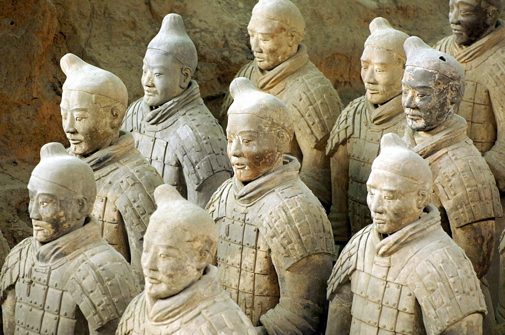 Terracotta Army, Warriors, part of the tomb complex, Pit 1, mausoleum of the first Qin Emperor near Xi'an, Shaanxi Province, China, Asia