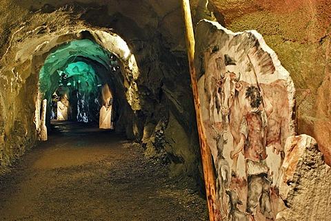The informative walk Gamsgrubenweg passes six tunnels at Franz Josefs Hohe on Grossglockner Carinthia Austria