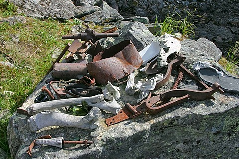 Remains of the goldrush from 1897 lying around at the area of the Scales Chilkoot Trail Alaska USA