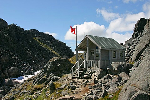 Hut of the canadian ranger Chilkoot Trail British Columbia Canada