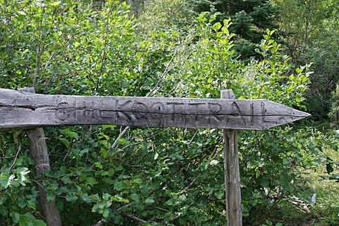 Sign Chilkoot Trail British Columbia Canada