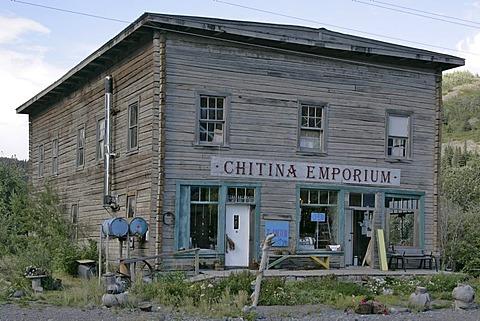 A souvenir shop in the village of Chitina Alaska USA