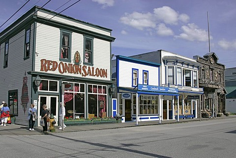 The Red Onion Saloon in the gold rush town of Skagway Alaska USA