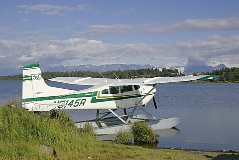 Waterplane at the Beluge Lake Kenai peninsula Homer Alaska USA