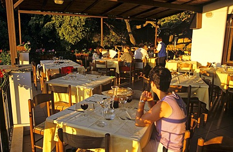 Dinner in the Restaurant of the Coop Enis near Oliena Sardegna Italy