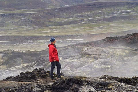 The new lavafield of the eruptions around 1980 the volcanic field of the volcano Krafla Iceland MR