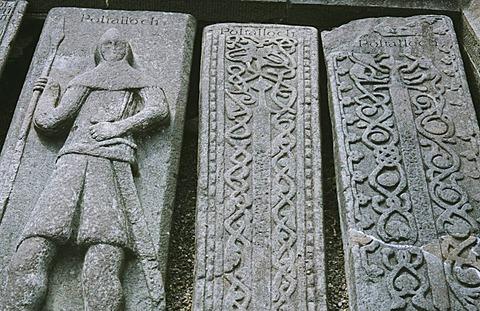 Medieval tombstones in Kilmartin Scotland