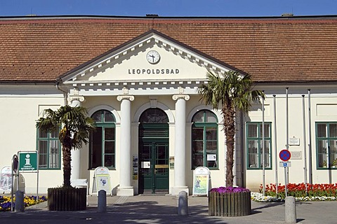 The former Leopolds bath houses now the tourist information center of the town Baden Lower Austria