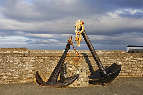 Old anchors at the lighthouse of Hook¥s Head which is dating back to the 13.th century, County Wexford, Ireland