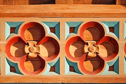 Detail of the wooden ceiling in the Vicars Choral on the Rock of Cashel, Cashel, Tipperary, Ireland