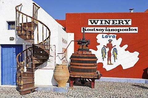 Wine museum and vinery Koutsouyanopoulos, Santorini, Greece