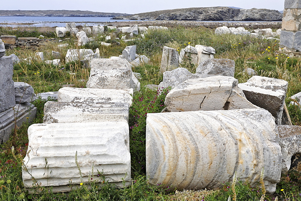 Parts of columns , Delos, Greece