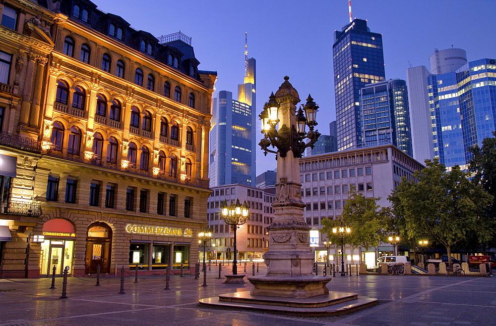 Bank towers, Frankfurt, Hesse, Germany, Europe