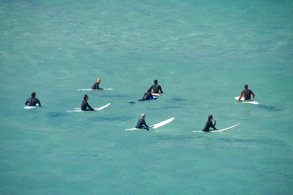 Surfers waiting for the wave, Sydney, Australia