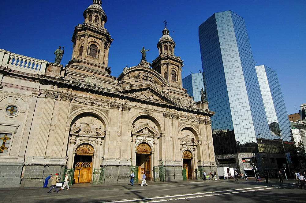 Cathedral, Plaza de Armas, Chile, South America