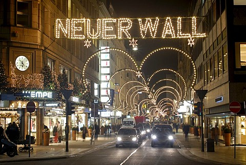 Illumination for Christmas at Neuer Wall, Hamburg, Germany