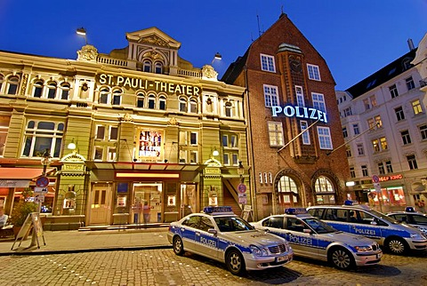 St. Pauli Theatre and Davidwache in Hamburg, Germany
