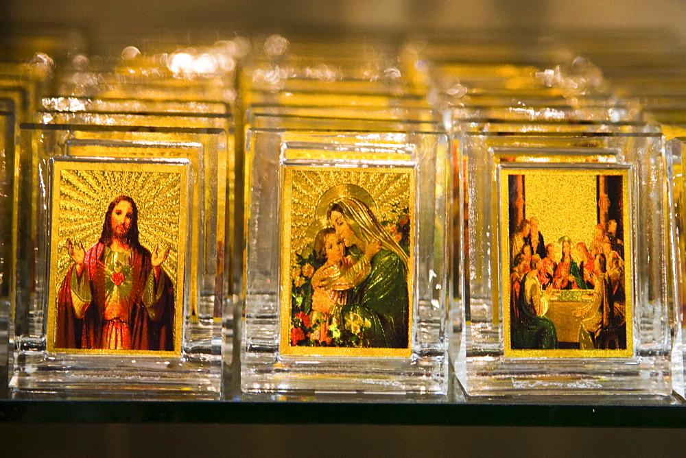 Icons depicting Christian images, Bethlehem, Israel