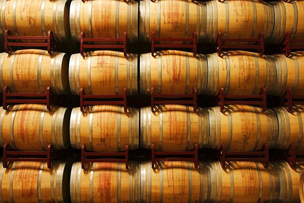 Wine barrels, La Rioja, Spain