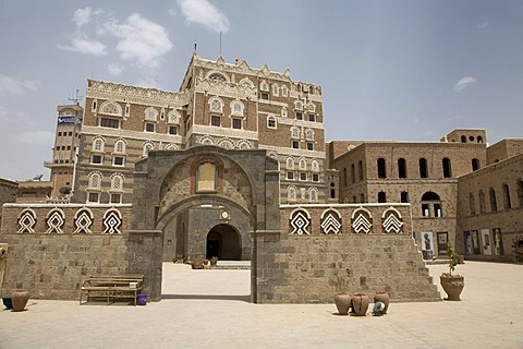Building made of brick clay, national museum, historic centre of Sanëaí, UNESCO World Heritage Site, Yemen, Middle East