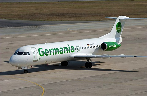 Air Germania airplane at Tegel airport, Berlin, Germany, Europe