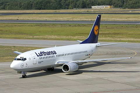 Lufthansa airplane at Tegel airport, Berlin, Germany, Europe