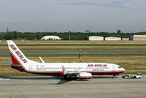 Air Berlin airplane at Tegel airport, Berlin, Germany, Europe